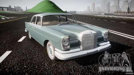 Mercedes-Benz W111 v1.0 для GTA 4 вид изнутри