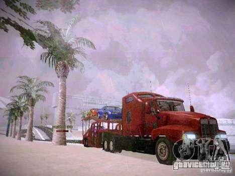 Прицеп Автовоз для GTA San Andreas вид сзади