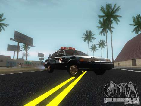 Ford Crown Victoria 1992 Detroit OCP для GTA San Andreas вид сзади