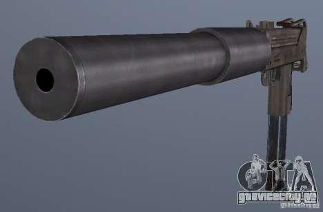 GRIMs Mac10 Silenced для GTA San Andreas третий скриншот