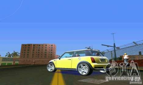 Mini Cooper S для GTA Vice City вид сзади слева