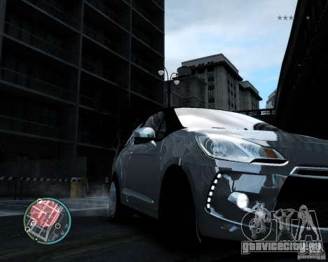 Citroen DS3 2011 для GTA 4 вид изнутри