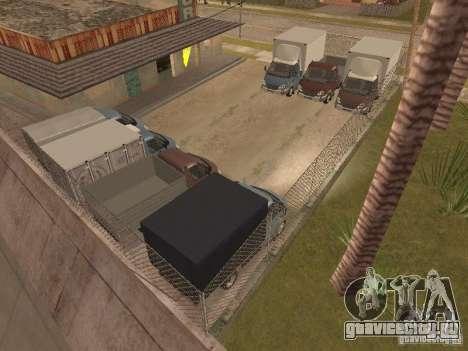 ГАЗ 3310 Валдай для GTA San Andreas вид изнутри