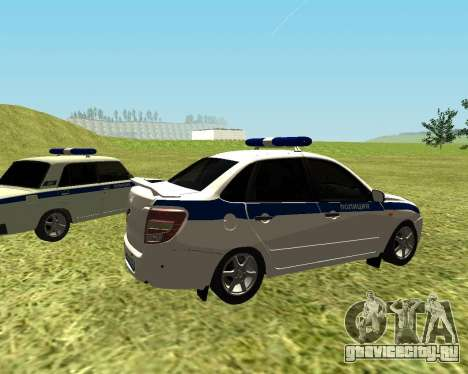 ВАЗ 2190 Полиция для GTA San Andreas вид сзади слева