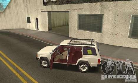 Jeep Grand Cherokee 1986 для GTA San Andreas вид снизу