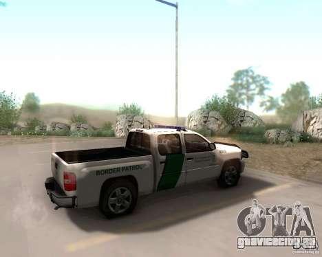 Chevrolet Silverado Police для GTA San Andreas вид сзади слева