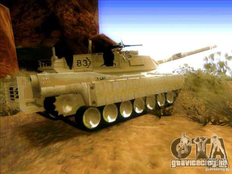 M1A2 Abrams из Battlefield 3 для GTA San Andreas вид сзади слева