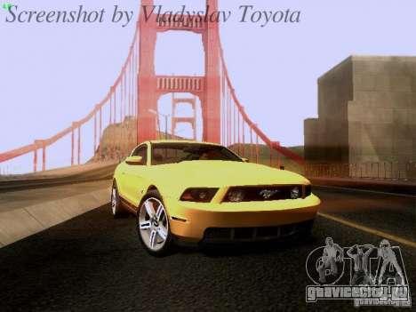 Ford Mustang GT 2011 для GTA San Andreas вид сзади слева