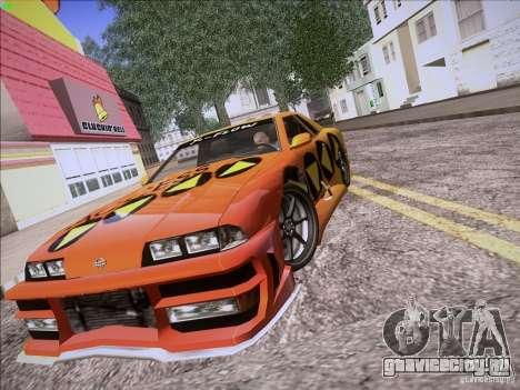 Elegy Cabrio Edition для GTA San Andreas вид изнутри