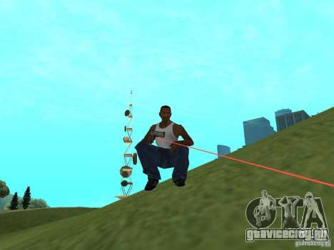 Laser Weapon Pack для GTA San Andreas второй скриншот