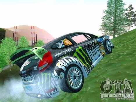 Ford Fiesta Ken Block Dirt 3 для GTA San Andreas вид изнутри