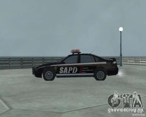Cop Car Chevrolet для GTA San Andreas вид слева