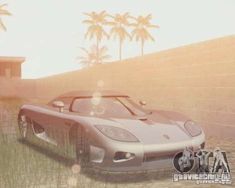 Koenigsegg CCX 2006 v2.0.0 для GTA San Andreas вид снизу