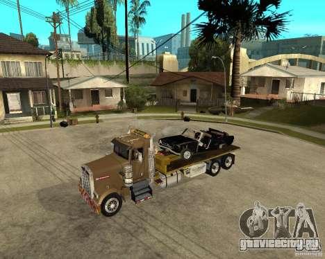 Kenworth W900 SALVAGE TRUCK для GTA San Andreas вид сбоку