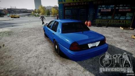 Ford Crown Victoria Detective v4.7 [ELS] для GTA 4 вид сзади слева