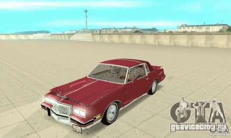 Pontiac Grand Prix 1985 для GTA San Andreas вид сбоку