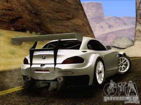 BMW Z4 E89 GT3 2010 Final для GTA San Andreas вид изнутри