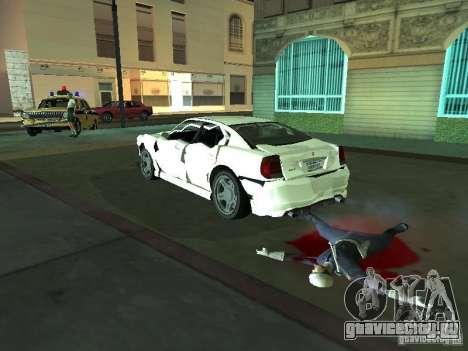 Buffalo из GTA 4 TBoGT для GTA San Andreas вид изнутри