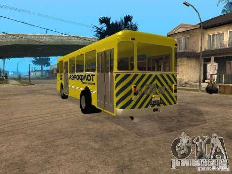 ЛиАЗ 677п для GTA San Andreas вид сзади слева