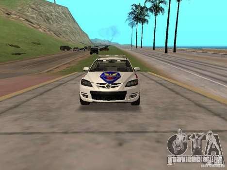 Mazda 3 Police для GTA San Andreas вид сзади