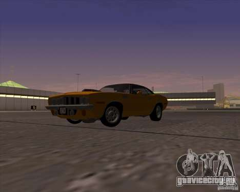 Plymouth Barracuda для GTA San Andreas вид справа