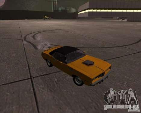 Plymouth Barracuda для GTA San Andreas вид изнутри