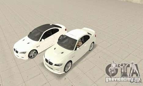 BMW M3 2008 для GTA San Andreas вид слева
