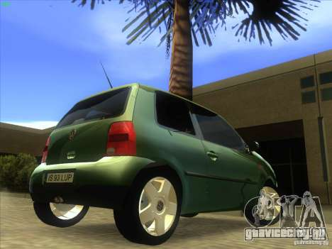 Volkswagen Lupo для GTA San Andreas вид сзади