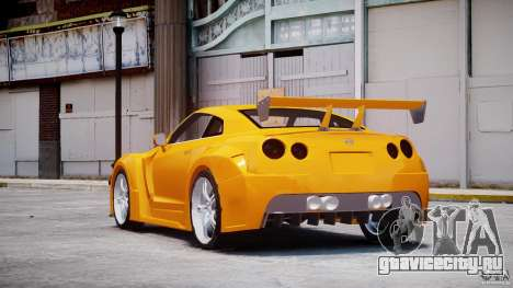 Nissan Skyline R35 GTR для GTA 4 вид сзади слева