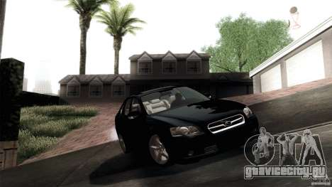 Subaru Legacy B4 3.0R specB для GTA San Andreas вид изнутри
