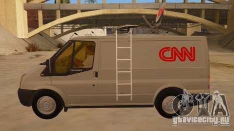 Ford Transit CNN для GTA San Andreas вид слева