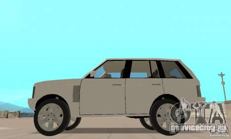 Range Rover Vogue 2003 для GTA San Andreas вид сзади слева