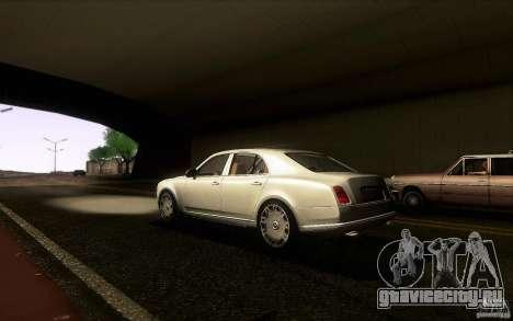 Bentley Mulsanne 2010 v1.0 для GTA San Andreas вид сзади слева