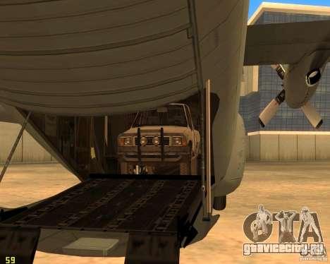 C-130 hercules для GTA San Andreas вид сверху