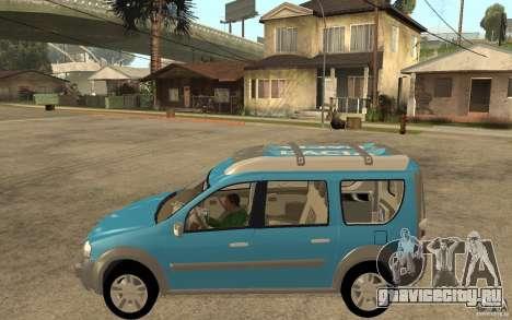 Dacia Logan Steppe Concept для GTA San Andreas вид слева