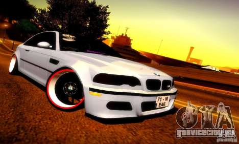 BMW M3 JDM Tuning для GTA San Andreas вид слева