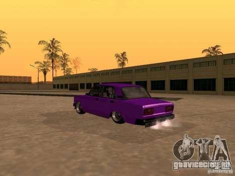 ВАЗ 2107 JDM для GTA San Andreas вид изнутри