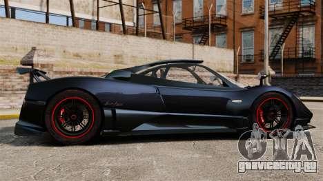 Pagani Zonda Cinque 2009 для GTA 4 вид слева