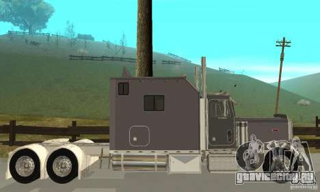 Peterbilt 379 Custom Legacy для GTA San Andreas вид сзади слева