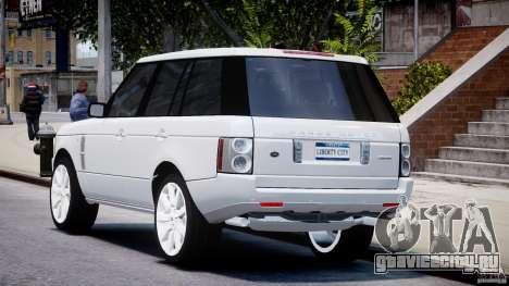 Range Rover Supercharged 2009 v2.0 для GTA 4 вид сзади слева
