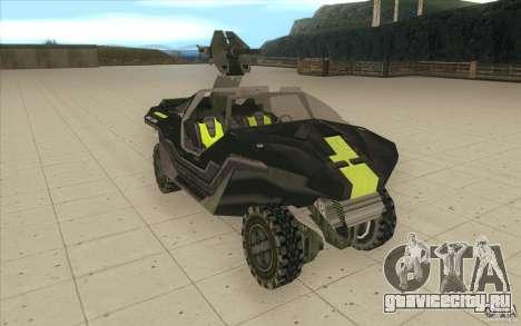 Halo Warthog для GTA San Andreas вид справа