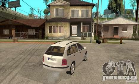 Skoda Fabia Combi для GTA San Andreas вид справа
