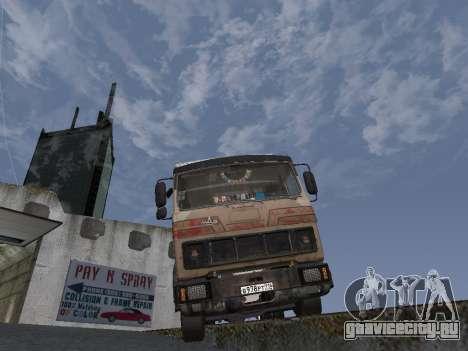 МАЗ 5551 Колхоз для GTA San Andreas вид сзади