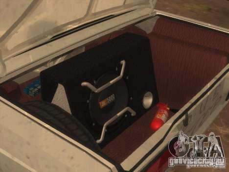 ВАЗ 2107 для GTA San Andreas вид сзади