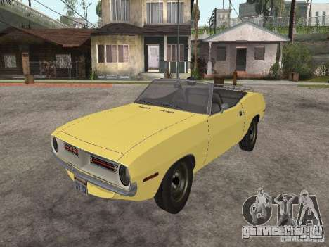 Plymouth Barracuda Rag Top 1970 для GTA San Andreas вид сзади