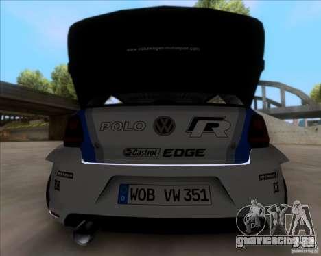 Volkswagen Polo WRC для GTA San Andreas вид справа