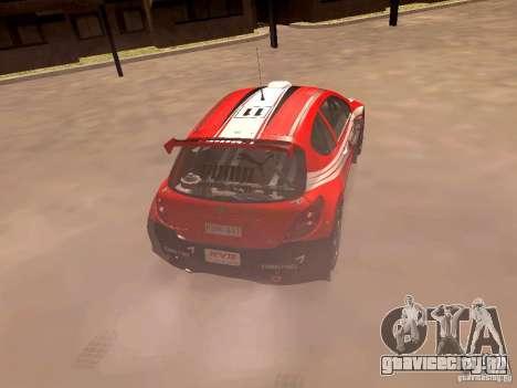 Peugeot 207 S2000 Puma для GTA San Andreas вид сзади слева