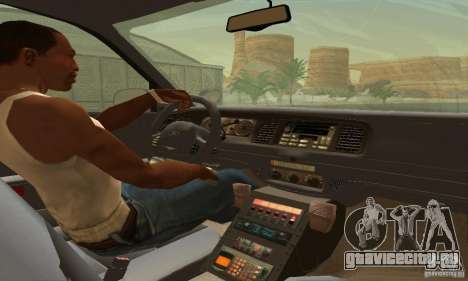 Ford Crown Victoria West Virginia Police для GTA San Andreas вид сзади слева