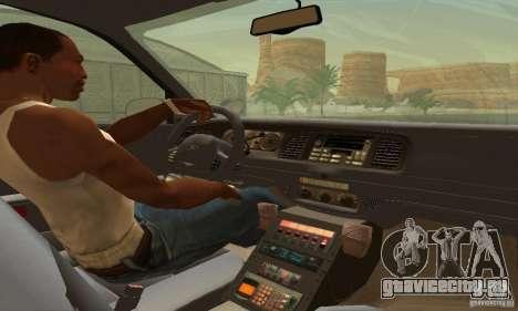 Ford Crown Victoria West Virginia Police для GTA San Andreas вид сзади слева