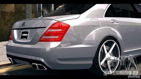 Mercedes-Benz S65 W221 AMG Vossen для GTA 4 вид справа